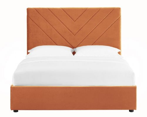 AXE BD45  Bed Frame  (Velvet Orange)